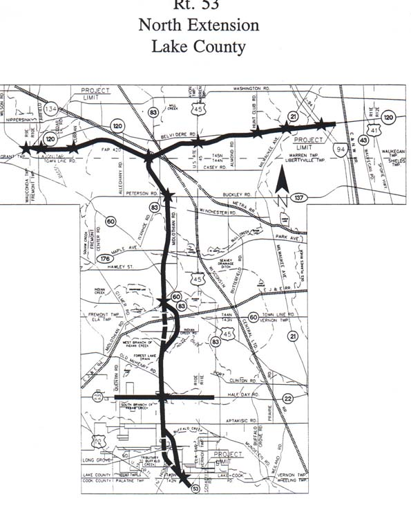 Click Here For A Jpg Copy Of The Proposed Routing Map Of The Il 53 Extension